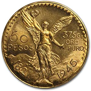 1945 Mexico, 1.2057 Troy ounce of .900 Gold