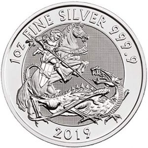 valiant 1 oz silver coin royal mint - coinerama