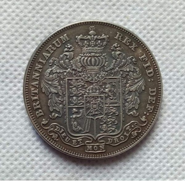 RARE Antique European 1826 United Kingdom - George IV 1 British Crown - coinerama