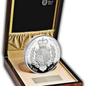The Queen's Sapphire Jubilee 2017 United Kingdom Silver Proof Kilo Coin