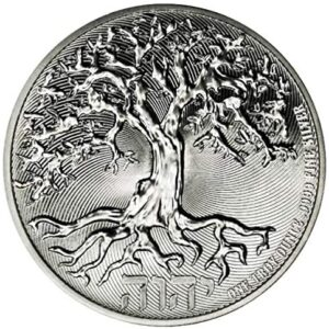 Silvern Metals 2021 Niue Tree of Life 1oz Silver Coin .999 in premium hard Lighthouse capsule